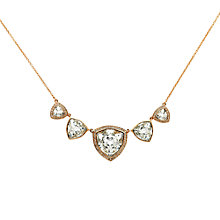 Buy Finesse Trilliant Swarovski Crystal Large Necklace Online at johnlewis.com