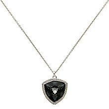 Buy Finesse Swarovski Crystal Large Trilliant Pendant, Silver Online at johnlewis.com