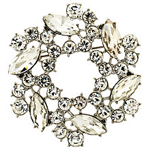 Buy Monet Crystal Wreath Brooch, Silver Online at johnlewis.com