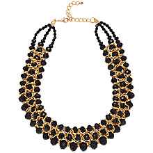 Buy Adele Marie Faceted Bead Statement Necklace, Black Online at johnlewis.com