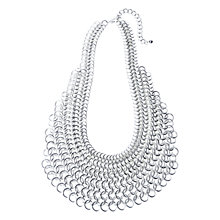 Buy Adele Marie Multiple Row Chain Necklace, Silver Online at johnlewis.com