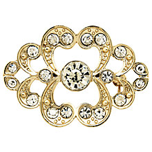 Buy Monet Crystal Heart Brooch, Gold Online at johnlewis.com