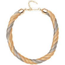 Buy Adele Marie Two Tone Chunky Rope Necklace, Gold/Silver Online at johnlewis.com