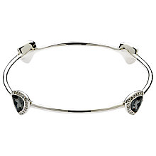 Buy Finesse Night Trilliant Swarovski Crystal Bangle, Silver Online at johnlewis.com