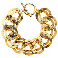 Buy Monet Textured Double Chain Bracelet Online at johnlewis.com