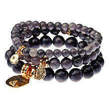 Buy Adele Marie 3 Row Agate Bead Stretch Bracelet Online at johnlewis.com
