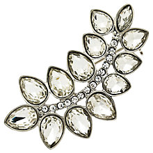 Buy Monet Glass Crystal Leaf Brooch, Silver Online at johnlewis.com