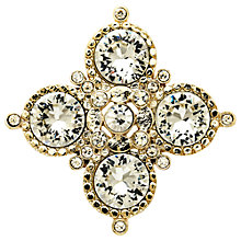 Buy Monet Gold Plated Crystal Medal Brooch, Gold Online at johnlewis.com