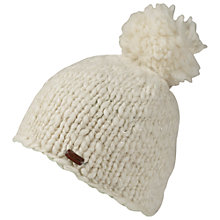 Buy Fat Face Hand Knit Lurex Beanie Hat, Cream Online at johnlewis.com
