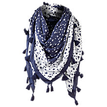 Buy Fat Face Shooting Star Foil Snood, Navy/White Online at johnlewis.com
