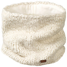 Buy Fat Face Hand Knit Lurex Snood, Cream Online at johnlewis.com