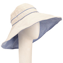 Buy John Lewis Reversible Wide Brim Hat, Cream/Blue Online at johnlewis.com