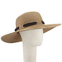 Buy John Lewis Glam Floppy Sun Hat, Sand/Black Online at johnlewis.com