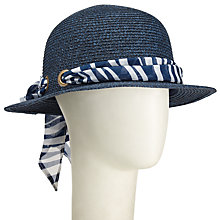 Buy John Lewis Small Brim Ribbon Hat, Navy Online at johnlewis.com