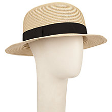 Buy John Lewis Small Brim Hat, Natural Online at johnlewis.com