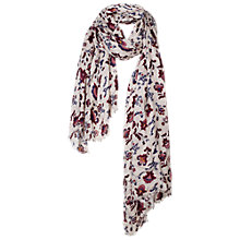 Buy Fat Face Folk Floral Scarf, Oatmeal/Multi Online at johnlewis.com