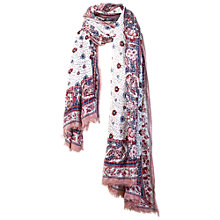 Buy Fat Face Sarah Sequin Scarf, Purple/Multi Online at johnlewis.com