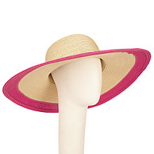 Buy John Lewis Colour Block Floppy Hat, Pink Online at johnlewis.com
