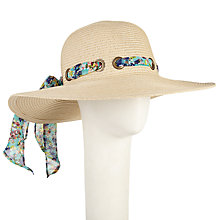Buy John Lewis Ribbon Floppy Hat, Natural Online at johnlewis.com