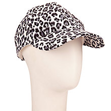 Buy John Lewis Animal Print Baseball Cap, Black/White Online at johnlewis.com