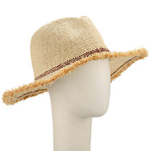 Buy John Lewis Raw Edge Fedora Sun Hat, Natural Online at johnlewis.com