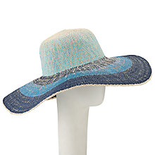 Buy John Lewis Ombre Floppy Sun Hat, Blue Online at johnlewis.com