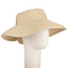 Buy John Lewis Visor Bow Sun Hat, Cream Online at johnlewis.com
