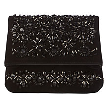 Buy Karen Millen Embellished Brompton Bag, Black Online at johnlewis.com
