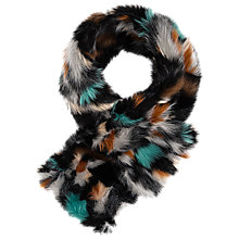 Buy Gerard Darel Faux Fur Scarf, Multi Online at johnlewis.com