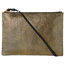 Buy Whistles Rivington Stingray Leather Chain Clutch Bag, Gold Online at johnlewis.com