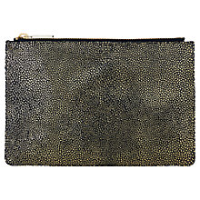 Buy Whistles Small Stingray Clutch Bag, Gold Online at johnlewis.com