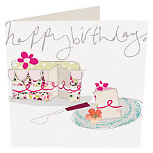 Buy Caroline Gardner Birthday Cake Slice Card Online at johnlewis.com