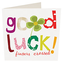 Buy Caroline Gardner Clover Good Luck Card Online at johnlewis.com