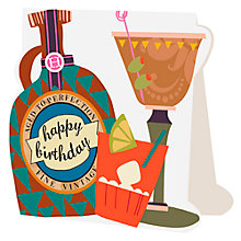 Buy Caroline Gardner Birthday Cocktails Card Online at johnlewis.com