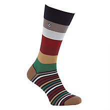 Buy Barbour Heywood Multi Pattern Socks, One Size, Navy/Multi Online at johnlewis.com