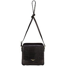 Buy Fiorelli Taylor Across Body Bag, Black Croc Online at johnlewis.com
