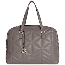Buy Calvin Klein Nora Quilted Duffle Bag, Grey Online at johnlewis.com