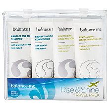 Buy Balance Me Rise & Shine Travel Pack Bath & Body Care Gift Set, 4 x 30ml Online at johnlewis.com