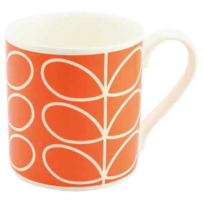 Orla Kiely Linear Stem Large Mug, Orange