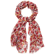 Buy White Stuff Handicraft Floral Scarf, Berry Online at johnlewis.com