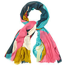 Buy White Stuff Colourblock Heart Scarf, Multi Online at johnlewis.com