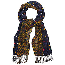 Buy White Stuff Jumping Spot Scarf, Dark Denim Online at johnlewis.com