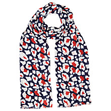 Buy Whistles Floral Leopard Print Scarf, Red/Multi Online at johnlewis.com