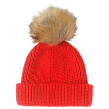 Buy Whistles Alpaca Mix Knitted Hat, Red Online at johnlewis.com