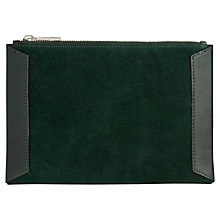 Buy Whistles Suede Panel Clutch Bag Online at johnlewis.com