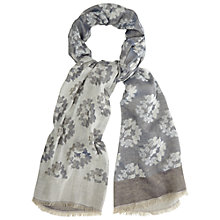 Buy White Stuff Doers and Makers Jacquard Scarf, Grey Online at johnlewis.com