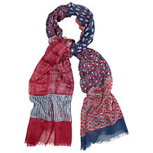 Buy White Stuff Layered Leaf Patchwork Scarf, Berry Online at johnlewis.com