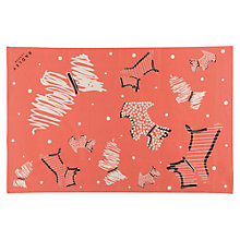 Buy Radley Fleet Street Cotton Tea Towel Duo, Ivory/Orange Online at johnlewis.com