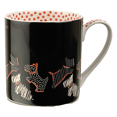 Radley Fleet Street Porcelain Mug, Set of 2, Black/Red