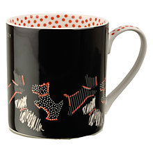 Buy Radley Fleet Street Porcelain Mug, Set of 2, Black/Red Online at johnlewis.com